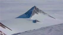 <h5>Pyramids In Antarctica</h5><p>Imagery showing a side view of what is believed to be a pyramid located in Antarctica.</p>