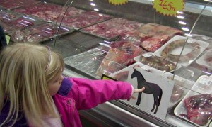 supermarkets and restaurants serving horse meat