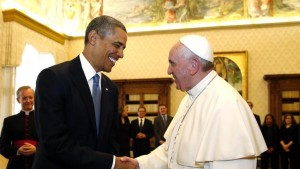 Penitent Pope with President Obama