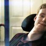 Deaf quadriplegic types with his eyes