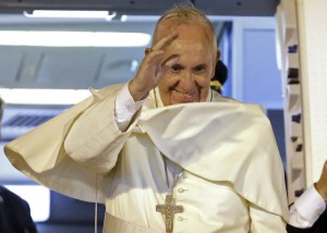Pope Francis tells youths to shake things up