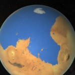 When the Red Planet was partly blue