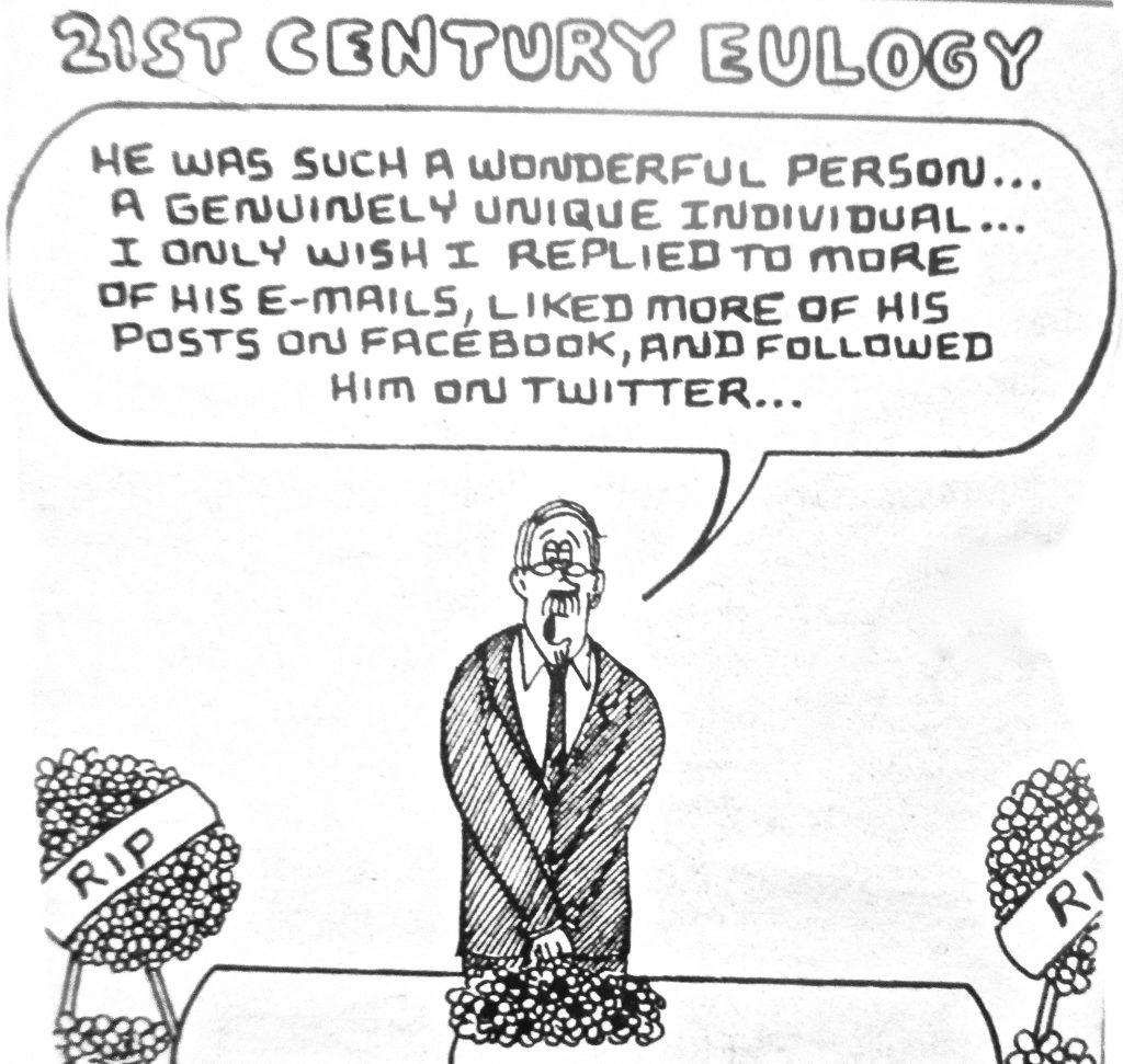 Cartoon 21st Century Eulogy