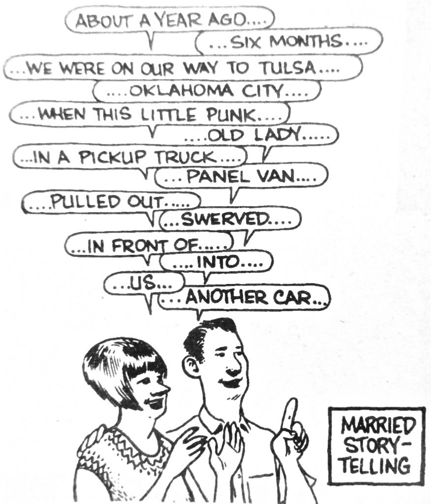 Cartoon About A Year Ago Married Story Telling