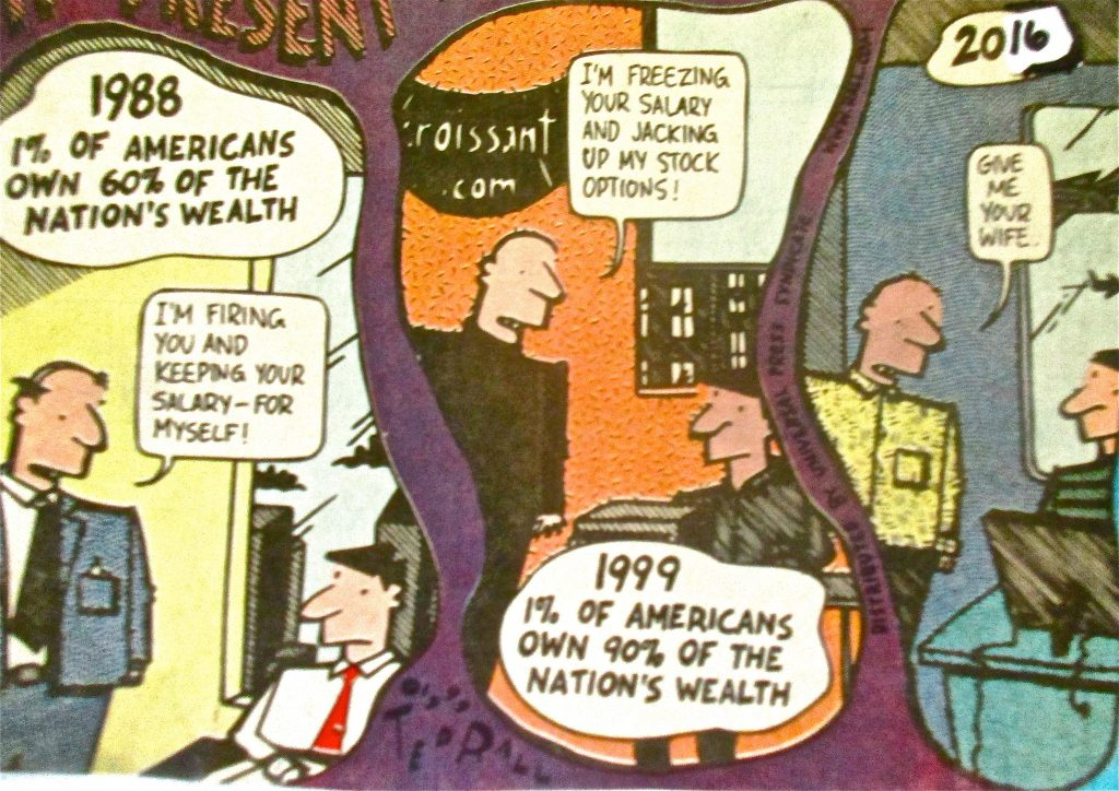 Cartoon Americans Own Of The Nations Wealth