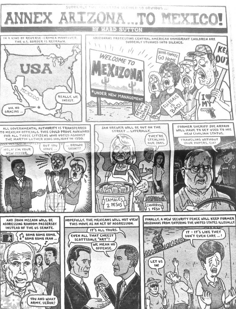 Cartoon Annex Arizona To Mexico