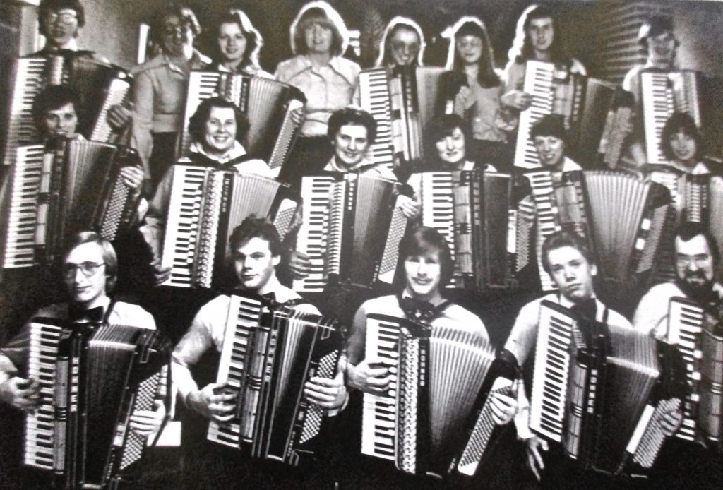 Cartoon Back when accordions were cool