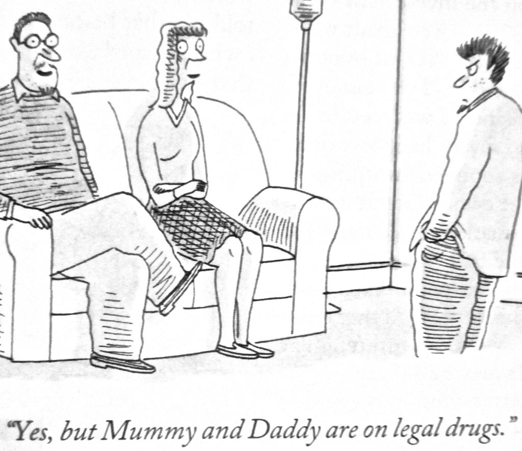 Cartoon But Mummy And Daddy Are On Legal Drugs