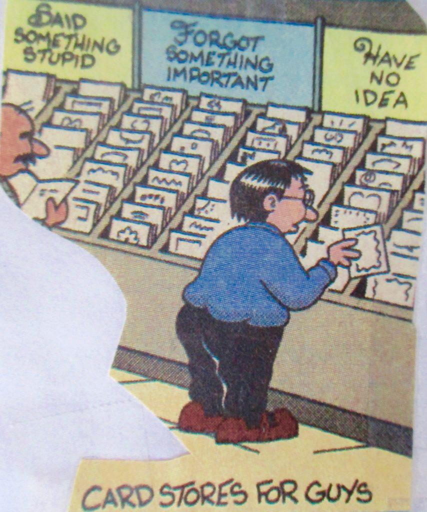 Cartoon Card Stores For Guys