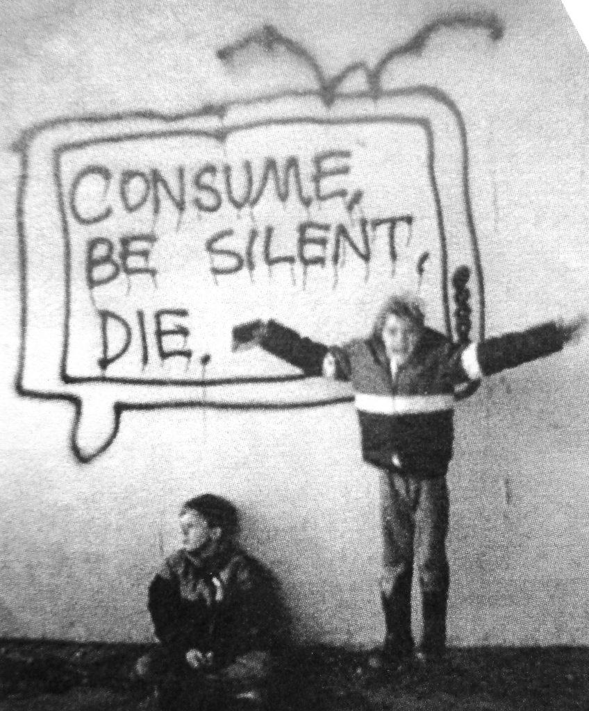 Cartoon Consume Be Silent Die