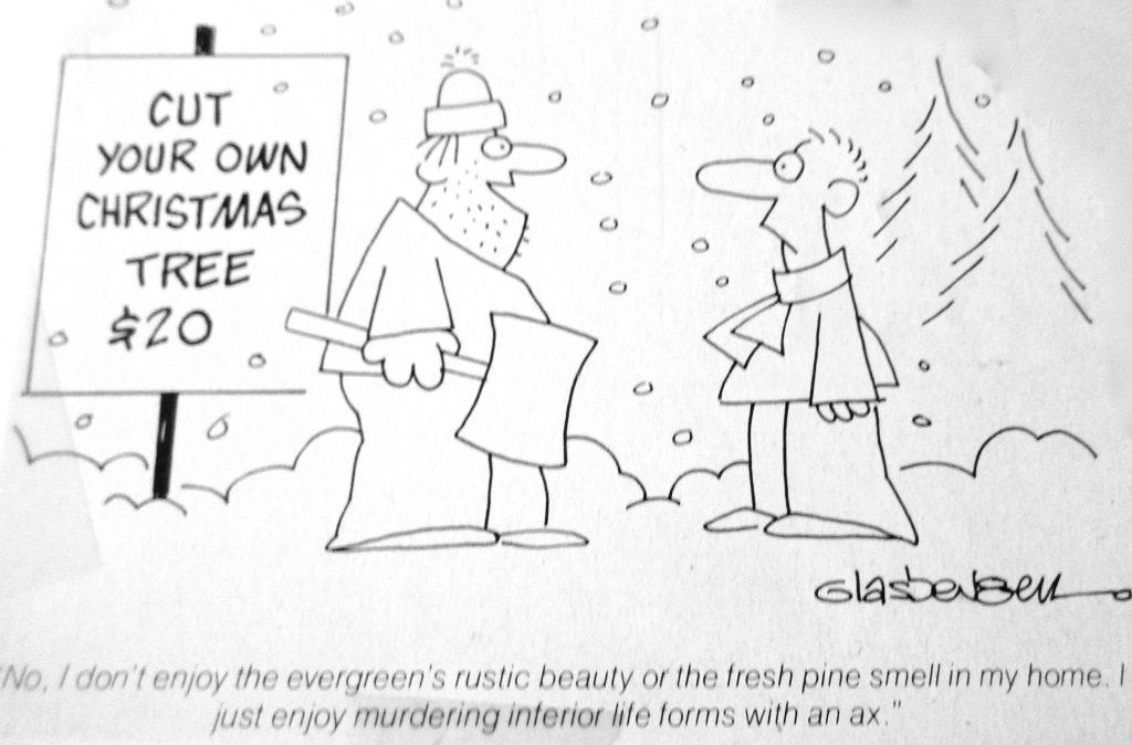 Cartoon Cut Ypur Own Christmas Tree