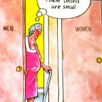 Cartoon – Dang Them Toilets Are Small