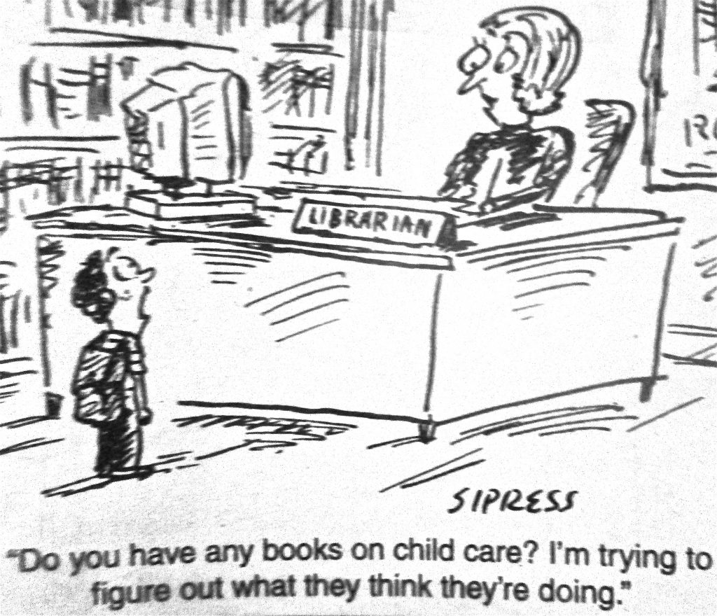 Cartoon Do You Have Any Books On Child Care I Am Trying To Figure Out What They Think TheyRe Doing