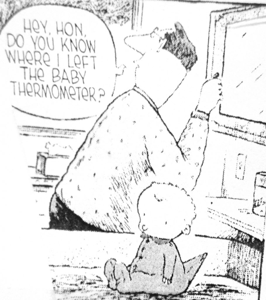 Cartoon Do You Know Where I Left The Baby Thermometer