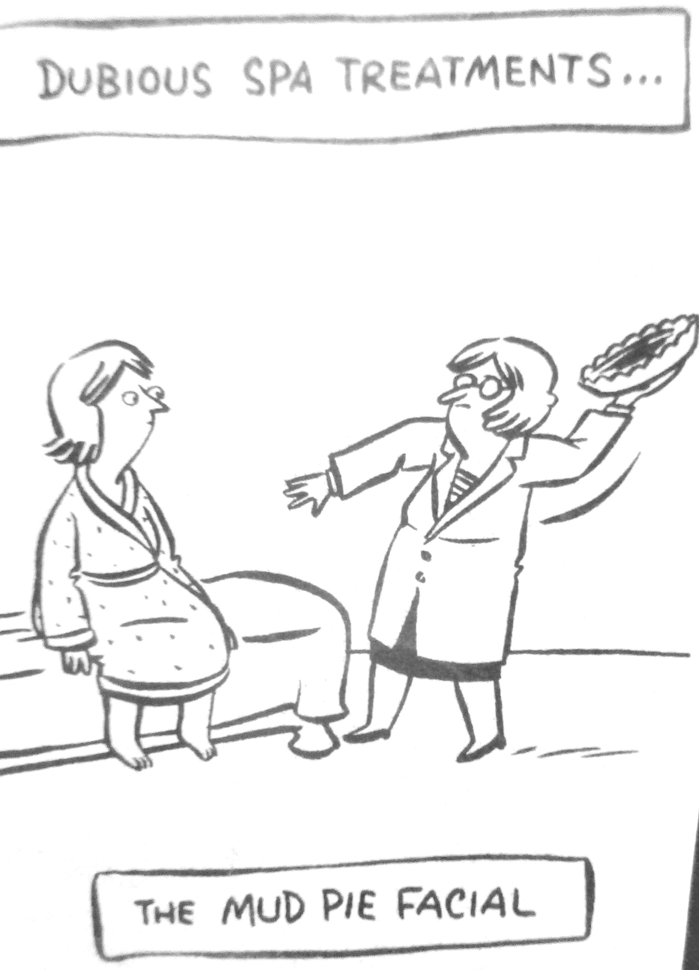 Cartoon Dubious Spa Treatments Antarctica Journal