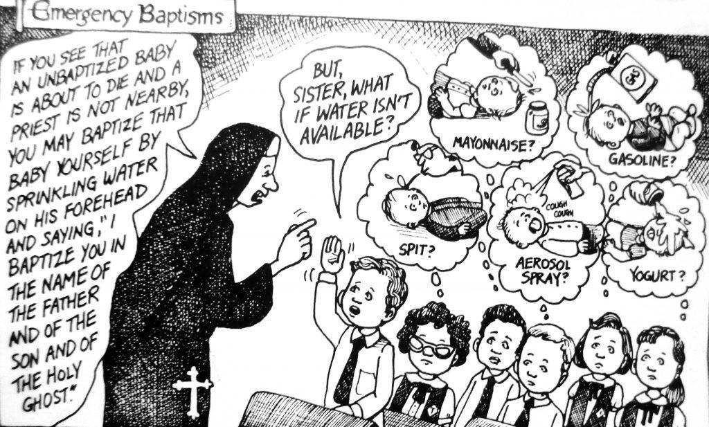 Cartoon Emergency Baptisms