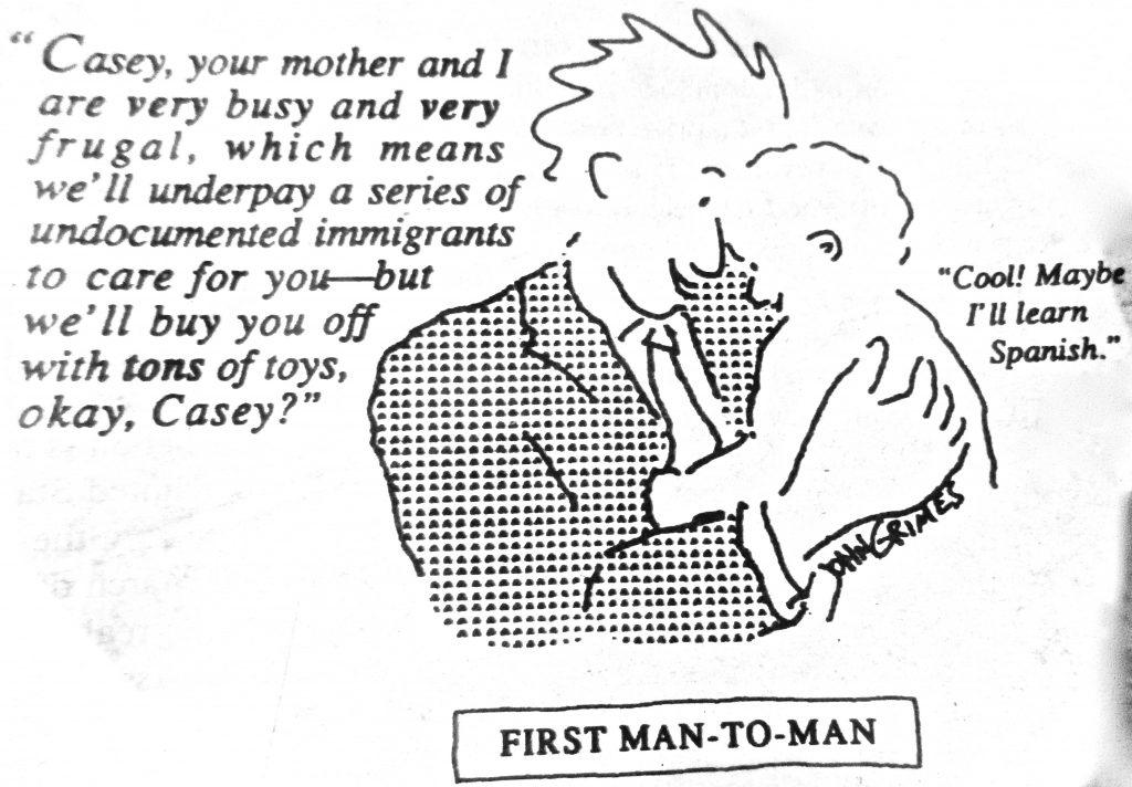 Cartoon First Man To Man