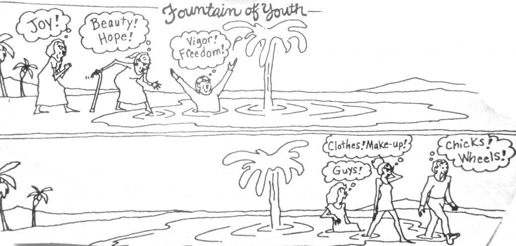 Cartoon Fountain Of Youth