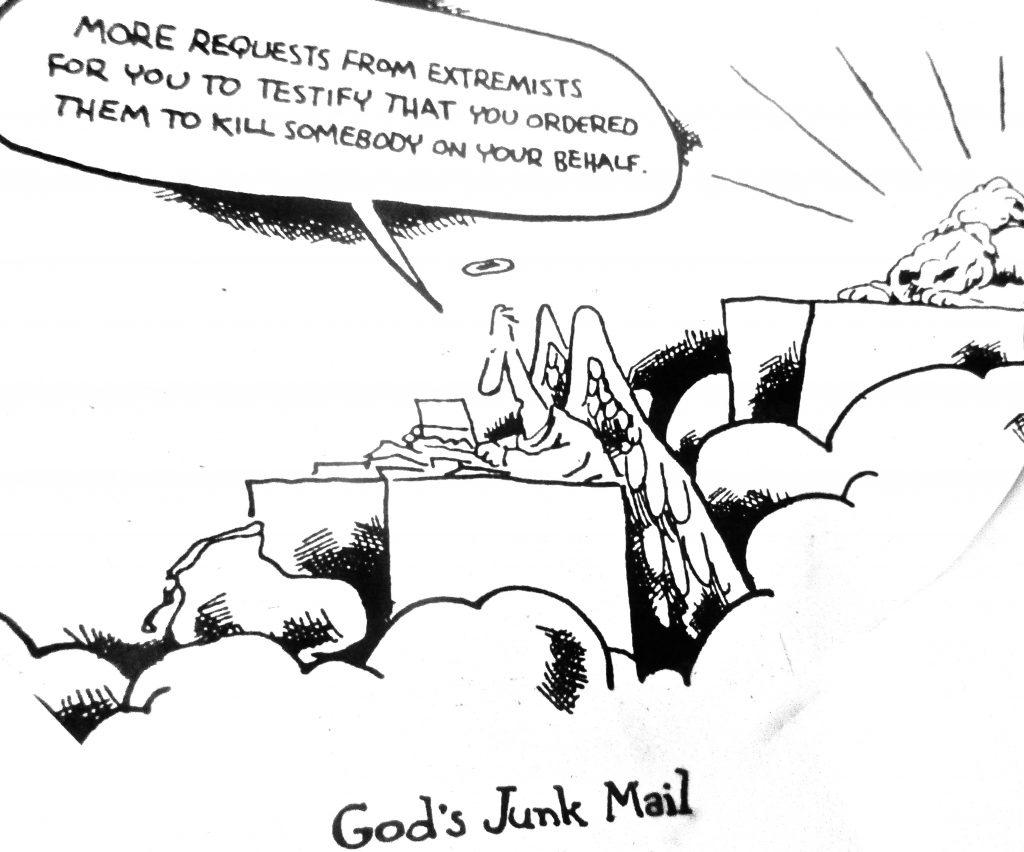 Cartoon God s Junk Mail