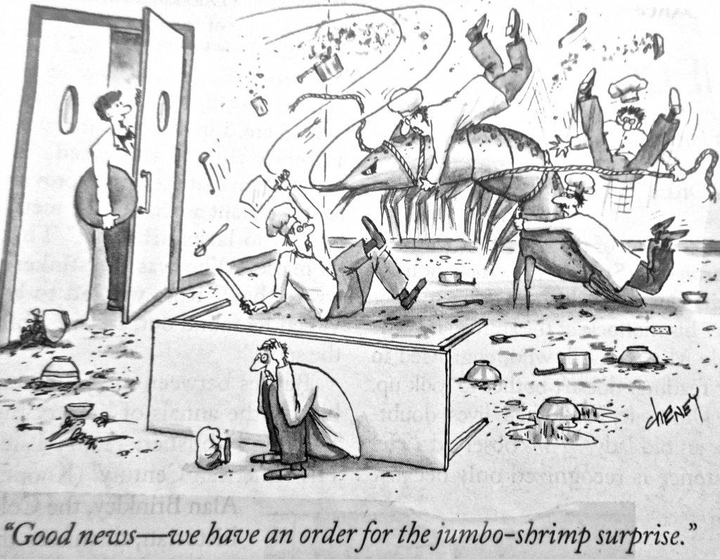 Cartoon Good News We Have An Order For The Jumbo Sbrimp Surprise