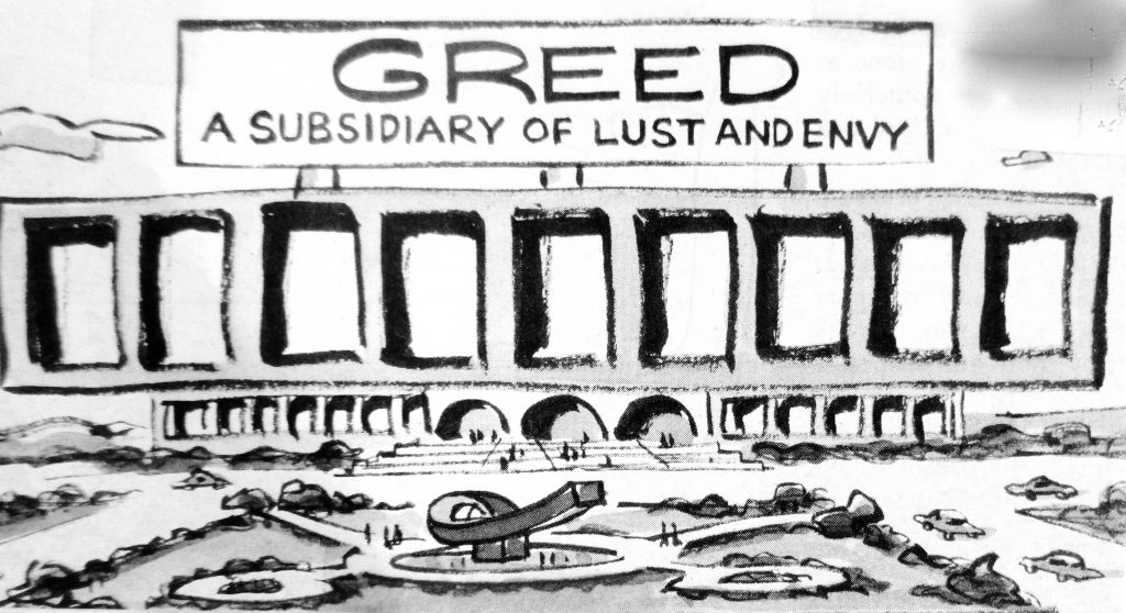 Cartoon Greed A Subsidiary Of Lust And Envy