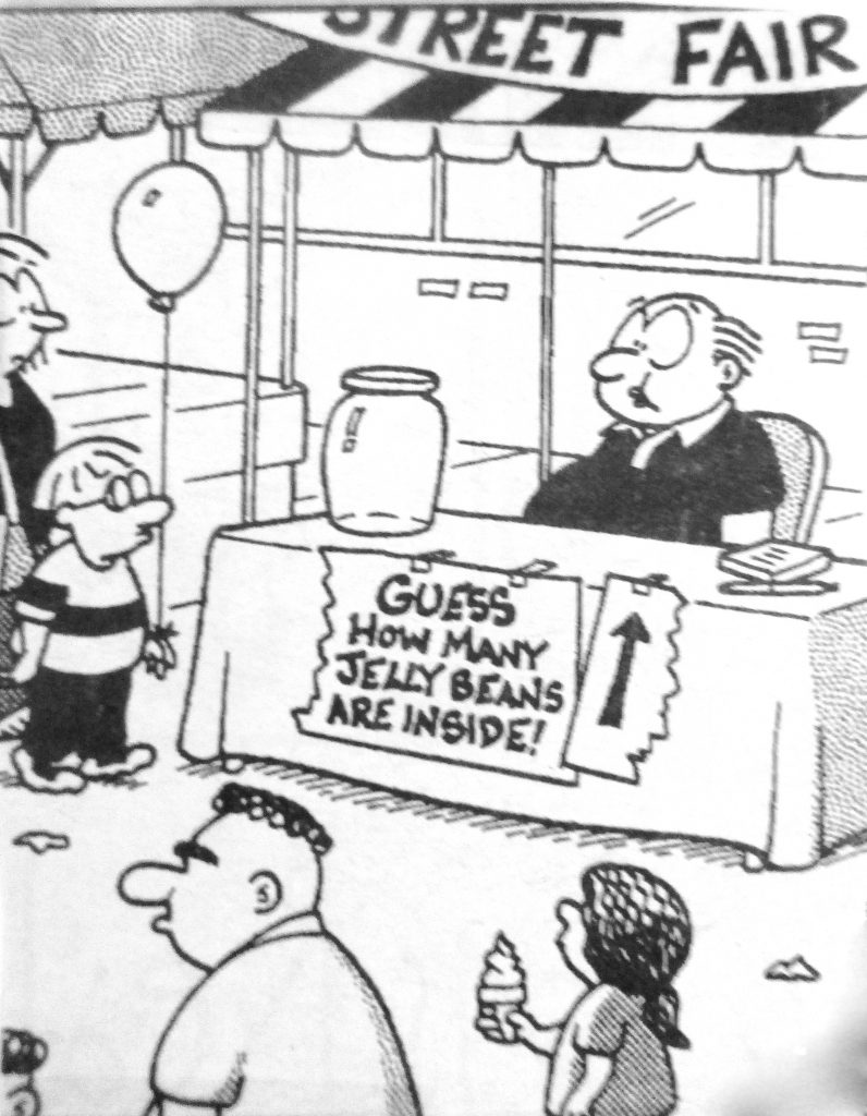 Cartoon Guess How Many Jelly Beans Are In Side
