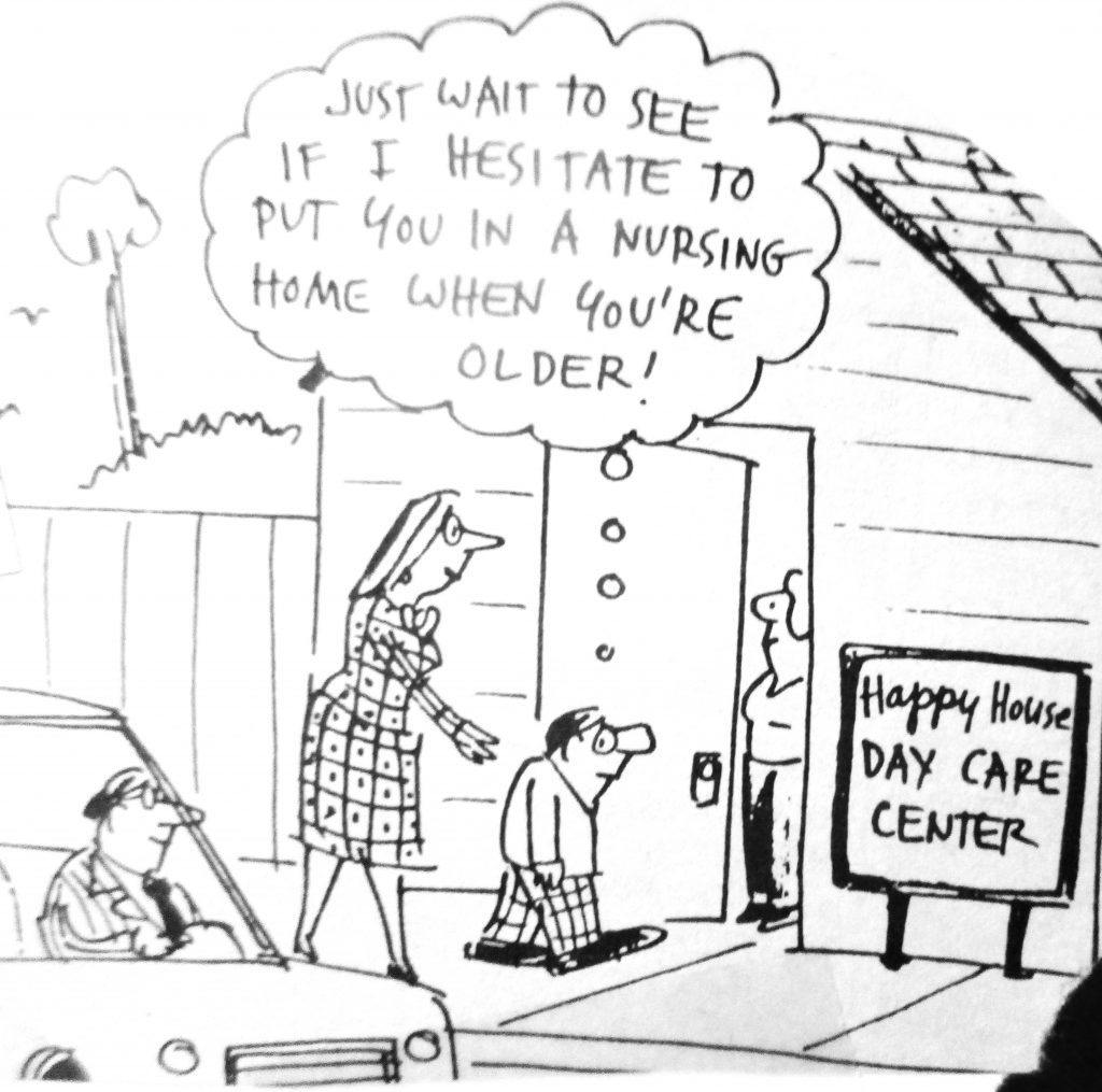 Cartoon Happy House Day Care Center