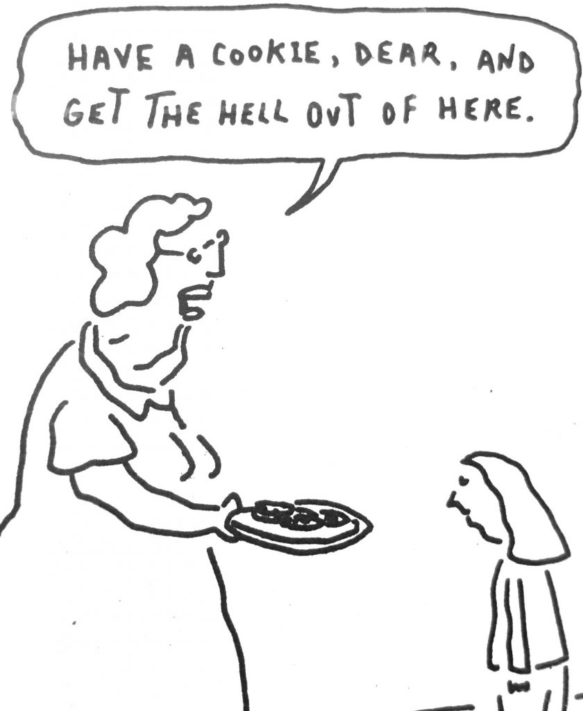 Cartoon Have A Cookie Dear And Get The Hell Out of Here