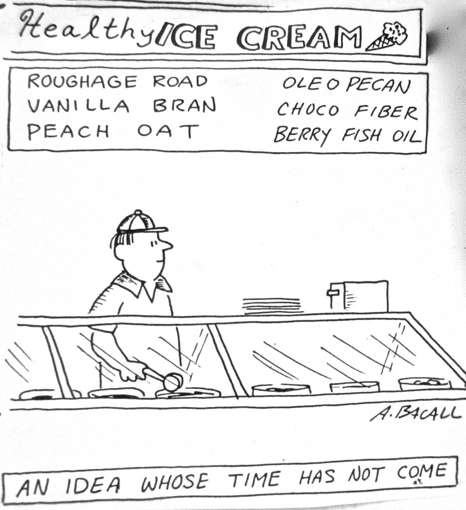 Cartoon Healthy Ice Cream Idea Whose Time Has Not Come
