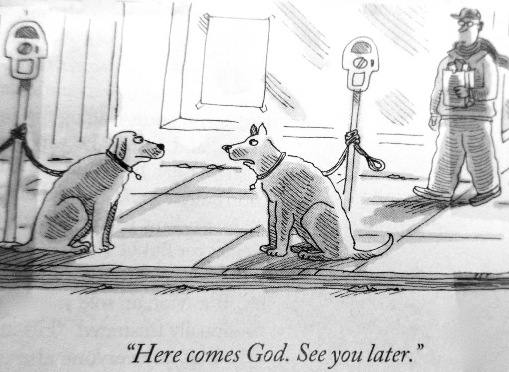 Cartoon HereComes God See You Later