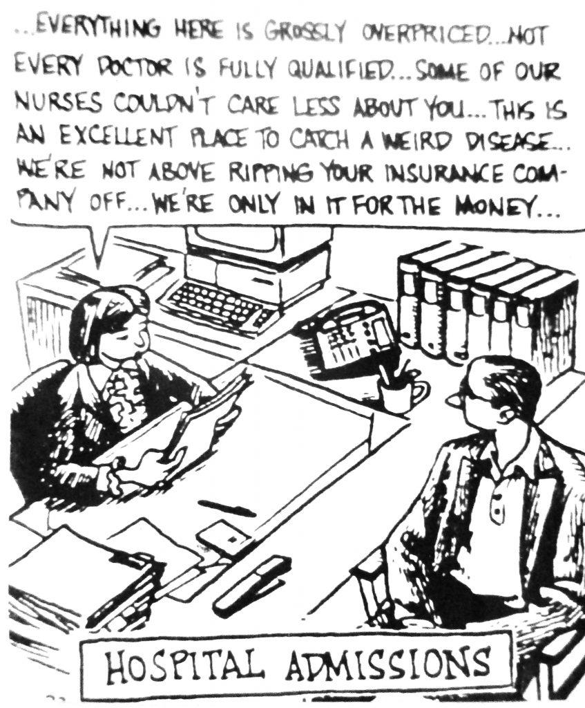 Cartoon Hospital admission
