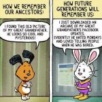 Cartoon – How We Remember our Ancestors