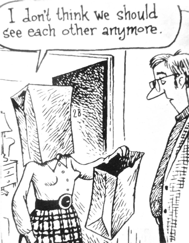 Cartoon I Dont Think We Should Each Other Any More