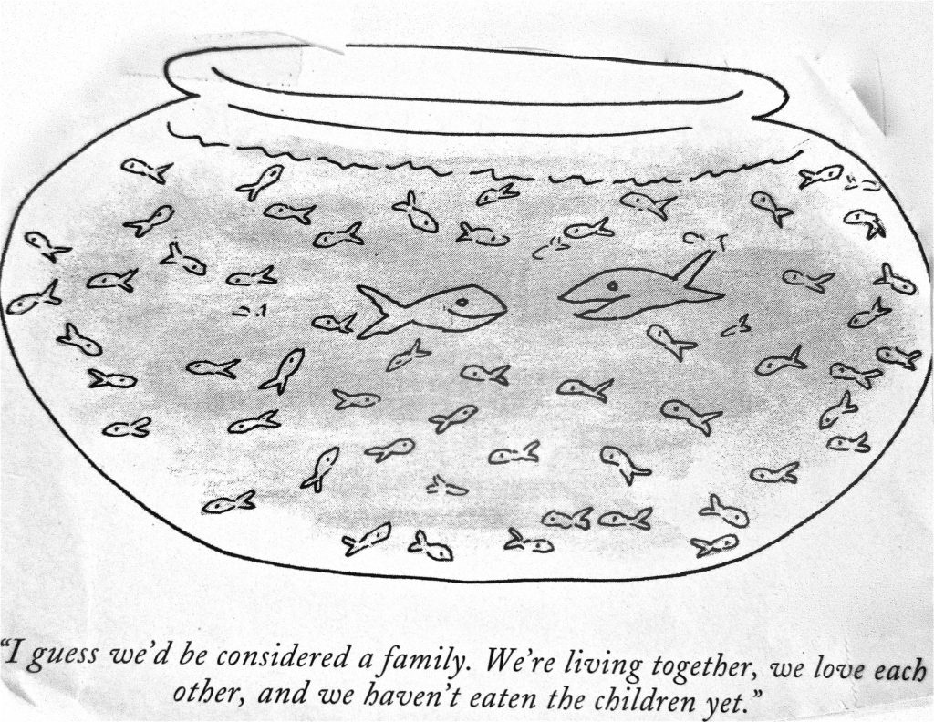 Cartoon I Guess WeD Be Considered A Family We Are Living Togather