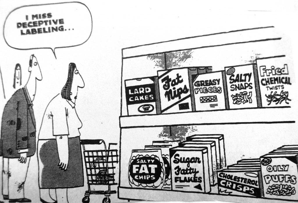 Cartoon I Miss Deceptive Lable Line