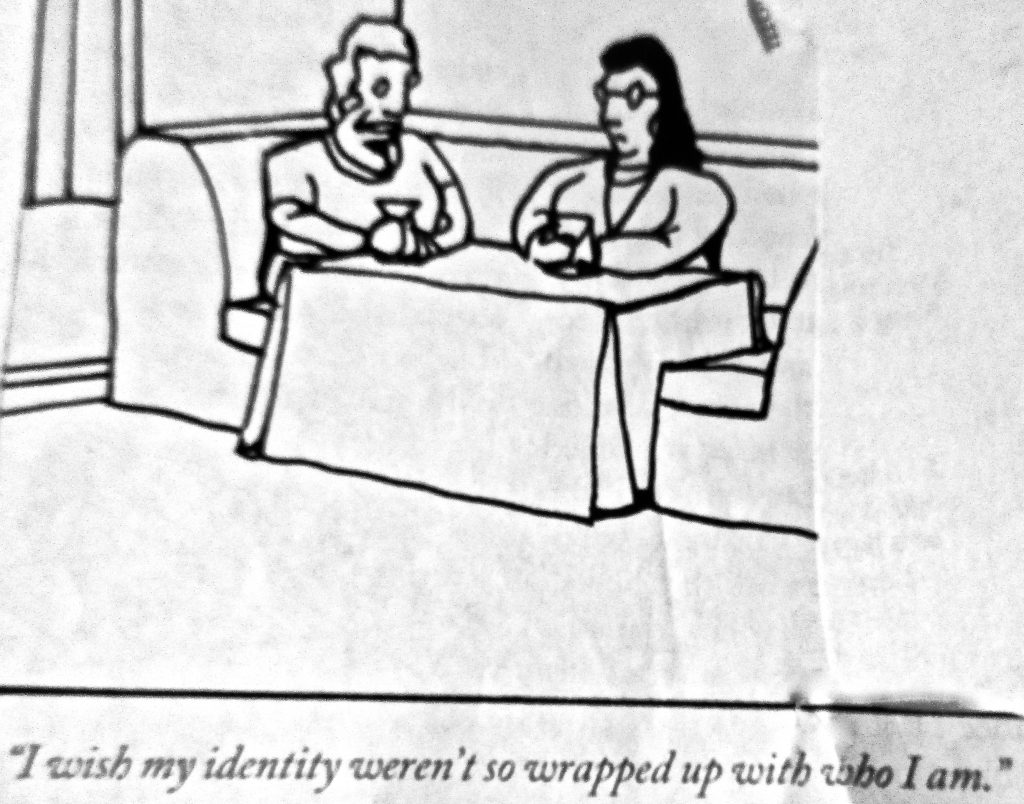 Cartoon I Wish My Identity Werent So Wrapped Up With Who I Am
