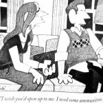Cartoon – Why husbands don't talk much