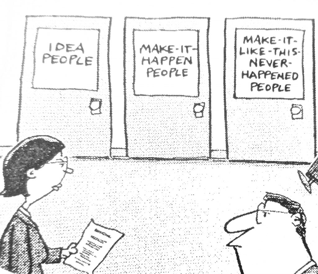 Cartoon Idea People Make It Happen People