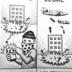 Cartoon – Terrorism vs. Militarism