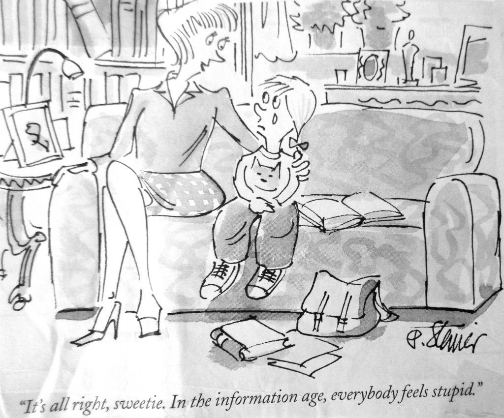 Cartoon Its All Right Sweetie In The Information Age Everybody Feets Stupiid