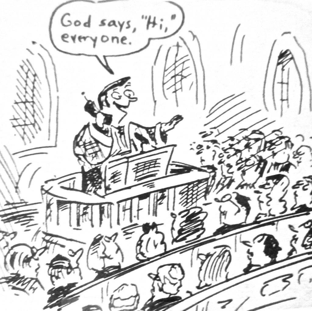 Cartoon Jesus Is Calling