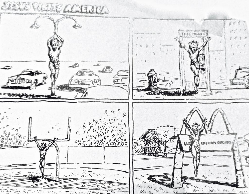Cartoon Jesus Visits America