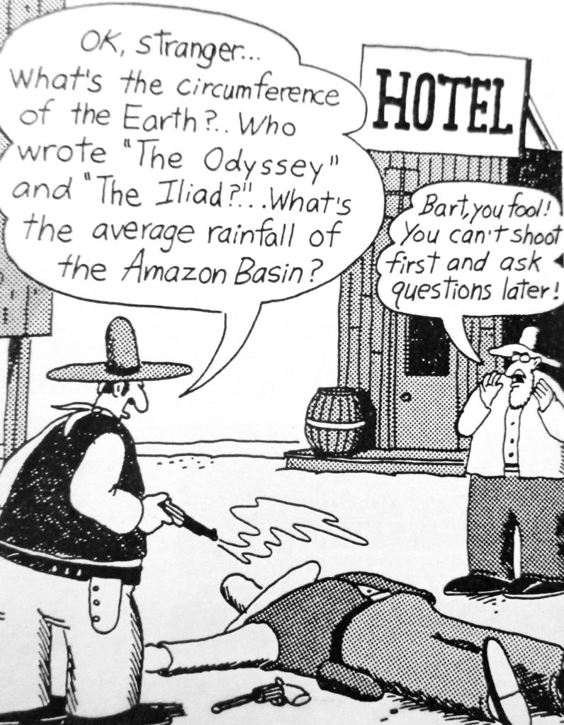 Cartoon Jumping The Gun