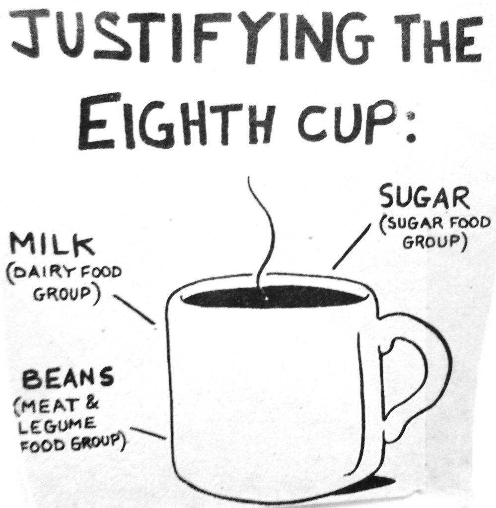 Cartoon Justifying The Eighth Cup