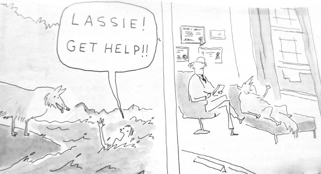Cartoon Lassie Get Help