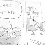 Cartoon -Lassie Gets Help