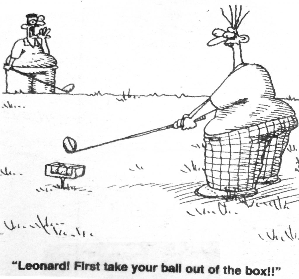 Cartoon Leonard First Take Your Ball Oout Of The Box