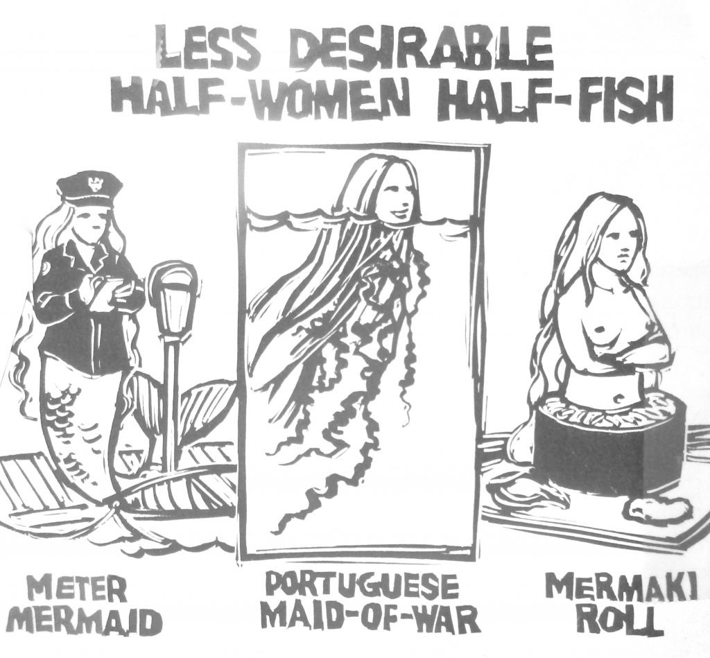 Cartoon Less Desirable Half Women Half Fish