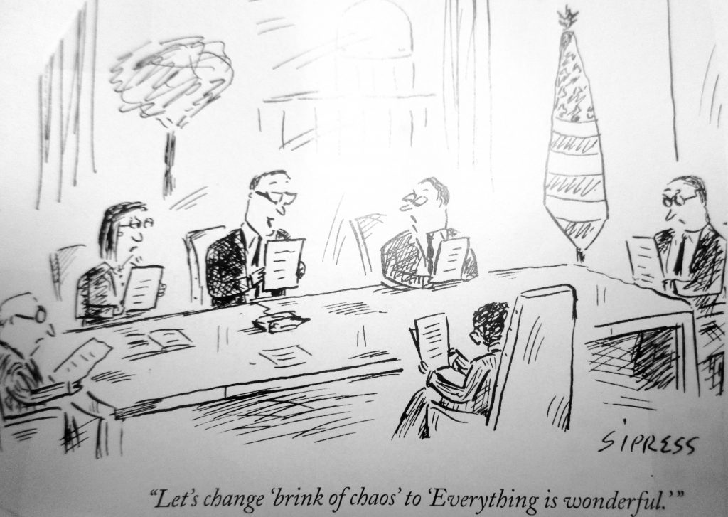 Cartoon Lets Change Brink Of Choas Everything Is Wonderful