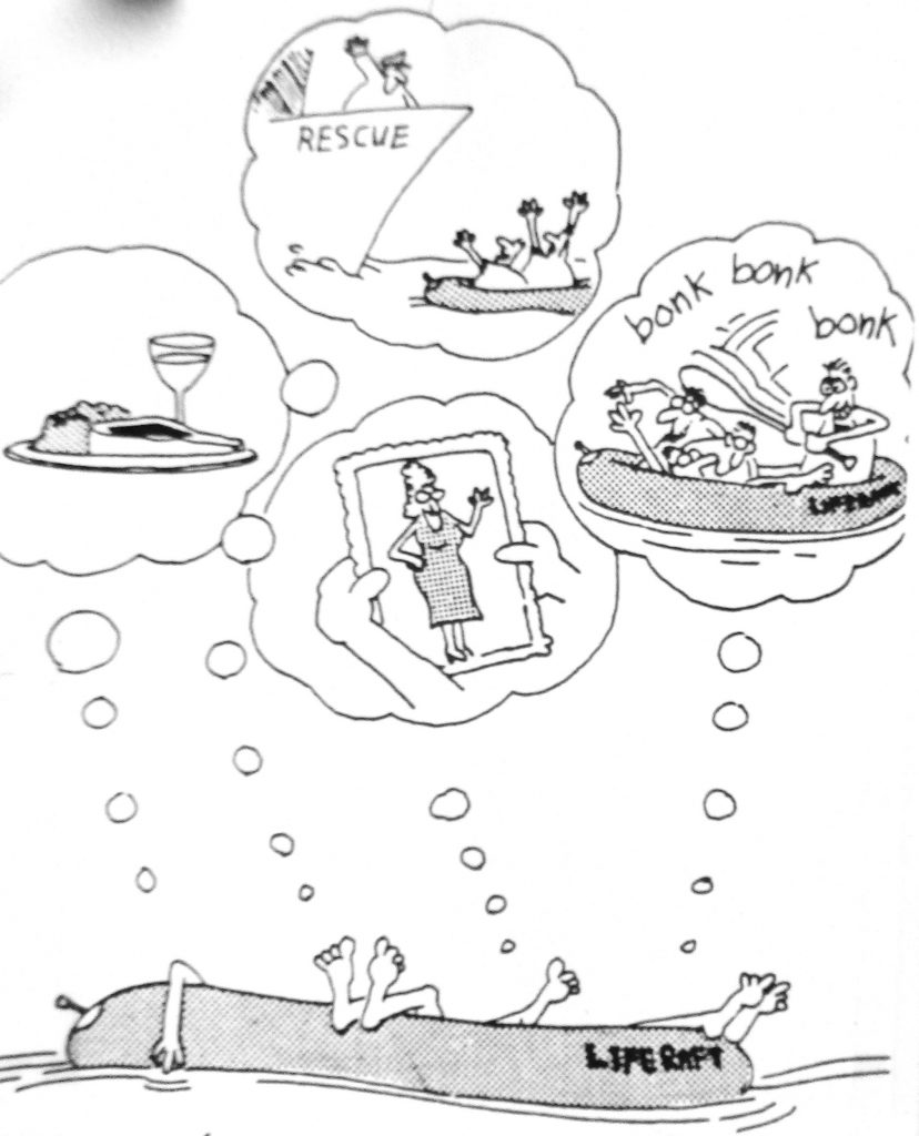 Cartoon Life Raft